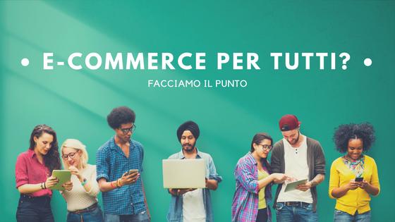 e-commerce il punto della situazione